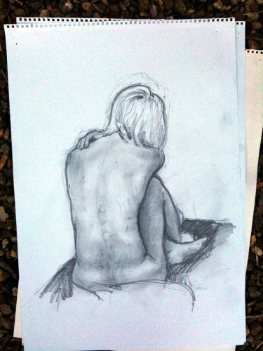 Life drawing by artist Derek Hunt