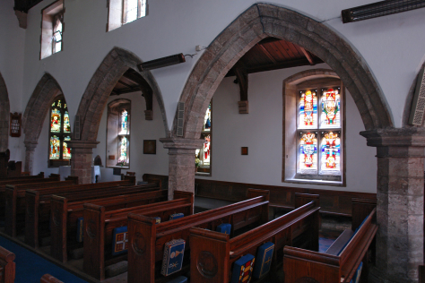 St Helena's Church, West Leake context view of installation of stained glass by artist Derek Hunt