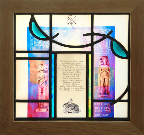 Glass art design for Archway Project Arts, St. Michael's at Trail