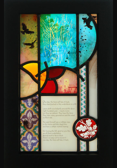 Glass art design for Archway Project Arts Trail, St. Martin's Church at Waithe