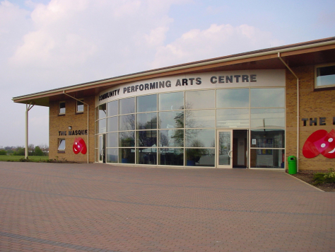 Latimer Theatre, Kettering where architectural glass screen designed by Derek Hunt is installed