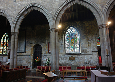Artists-impression of interior St Mary's Church, Melton Mowbray